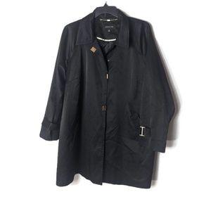 Jones New York Black Trench Coat
